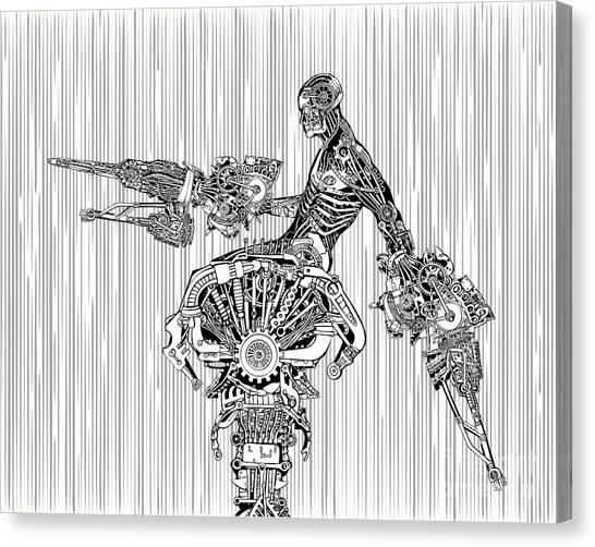 Cyborg War Canvas Print by Ryger