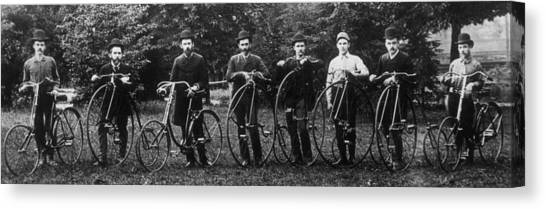 Cycle Club Canvas Print by Hulton Archive