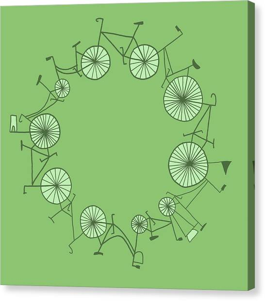 Cycle Canvas Print by Illustrations