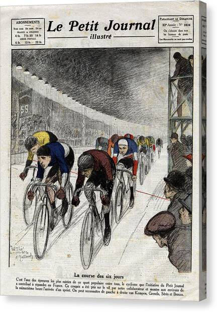 Cyclists Piet Van Kempen 1898-1985 Canvas Print