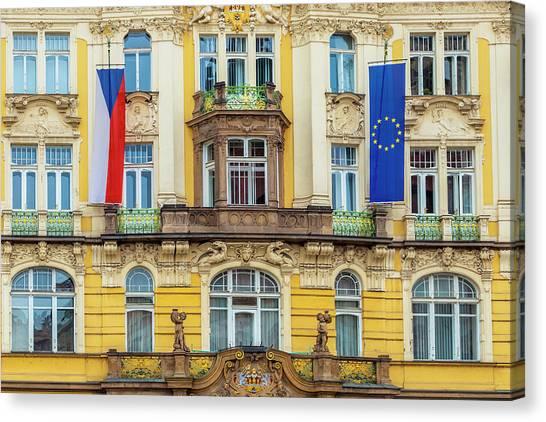 Czech Facade Canvas Print by Andrew Soundarajan