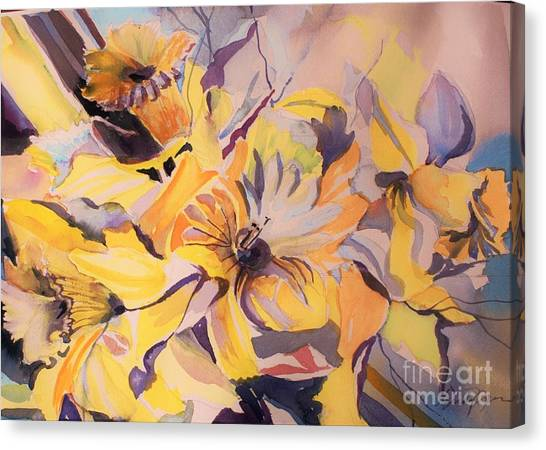 Canvas Print - Daffodil Whimsy  by Mindy Newman
