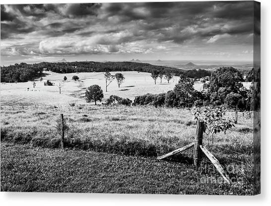 Farmland Canvas Print - Dahmongah Lookout, Mount Mee by Jorgo Photography - Wall Art Gallery