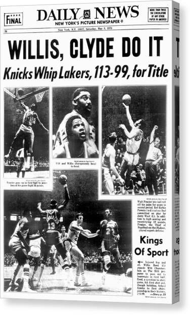 Daily News Back Page Dated May 9, 1970 Canvas Print