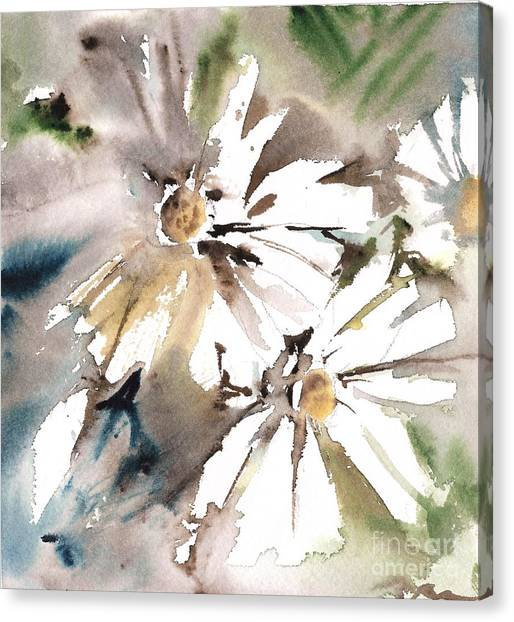 Canvas Print - Daisies Light by Mindy Newman