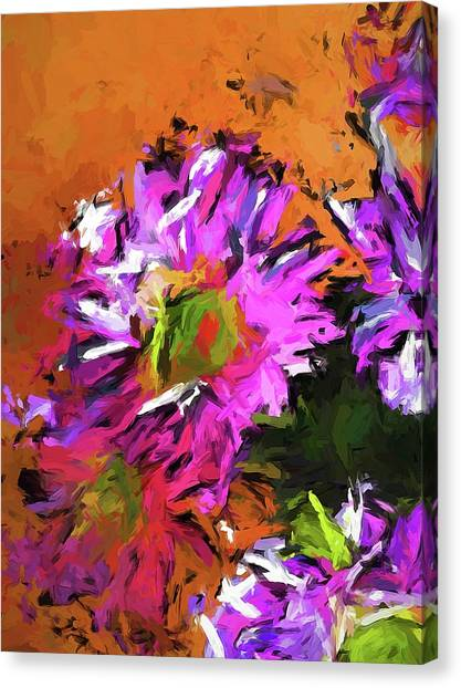 Daisy Rhapsody In Lavender And Pink Canvas Print