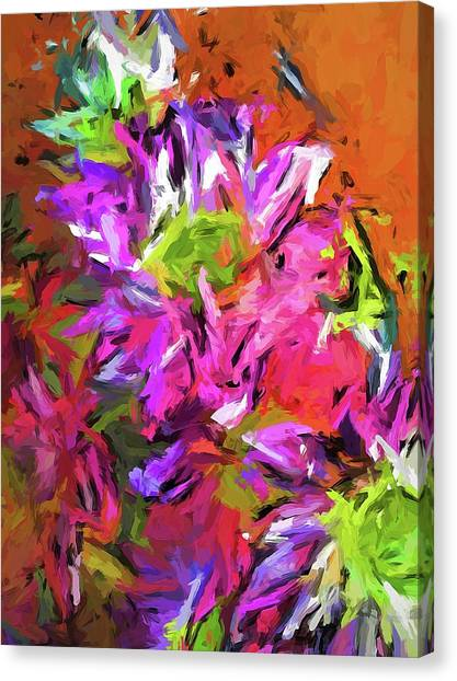 Daisy Rhapsody In Purple And Pink Canvas Print