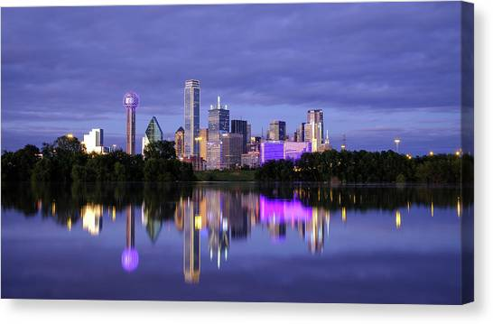 Canvas Print featuring the photograph Dallas Cityscape by Robert Bellomy