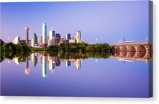 Dallas Texas Houston Street Bridge Canvas Print