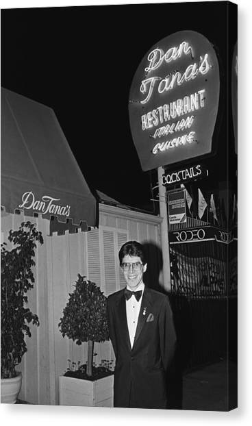 Dan Tanas Los Angeles Restaurant To The Canvas Print by George Rose
