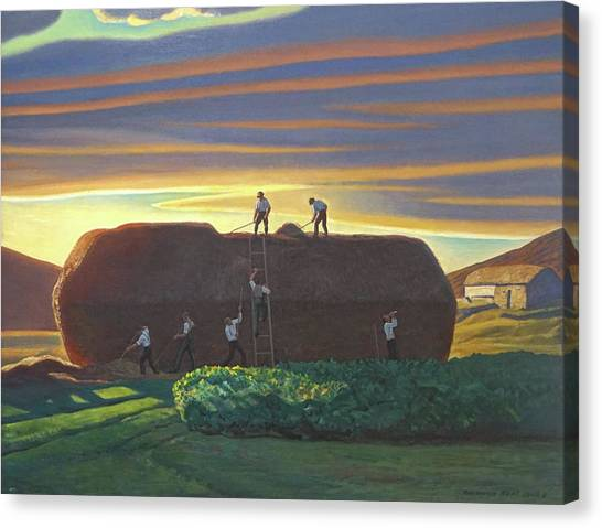 Dan Wards Stack Ireland Canvas Print by Rockwell Kent