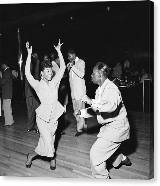 Dancing At The Savoy Ballroom Canvas Print by Graphic House