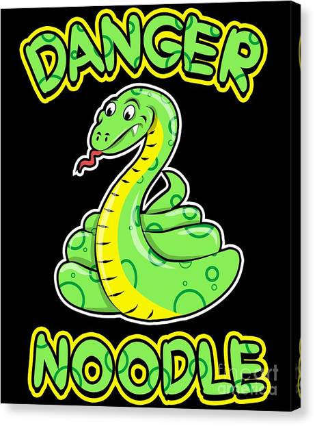 Ball Pythons Canvas Print - Danger Noodle For Snake Lovers by Beth Scannell
