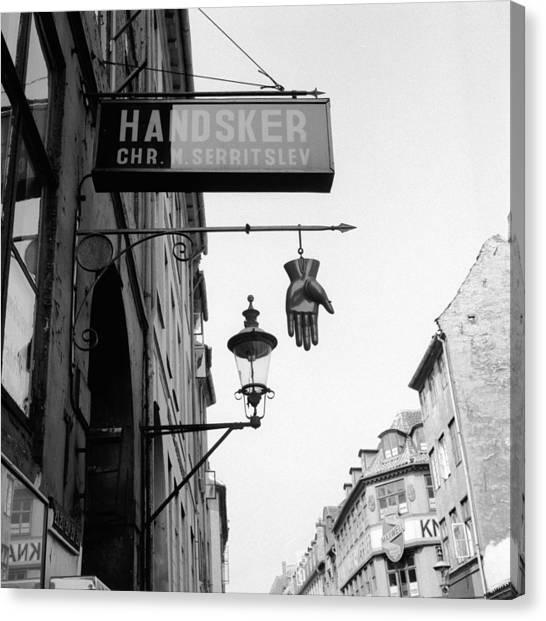 Clothing Store Canvas Print - Danish Glovemaker by Vecchio