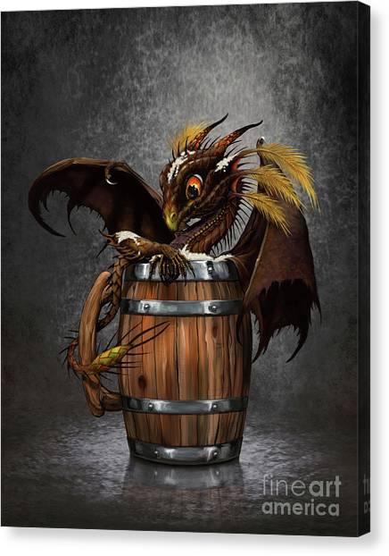 Dark Beer Dragon Canvas Print