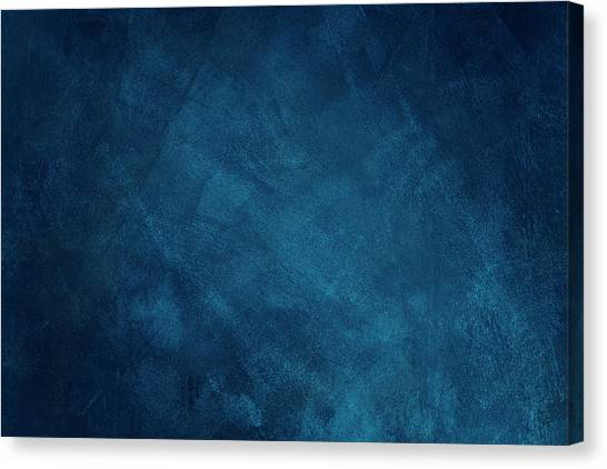 Dark Blue Grunge Background Canvas Print by Caracterdesign