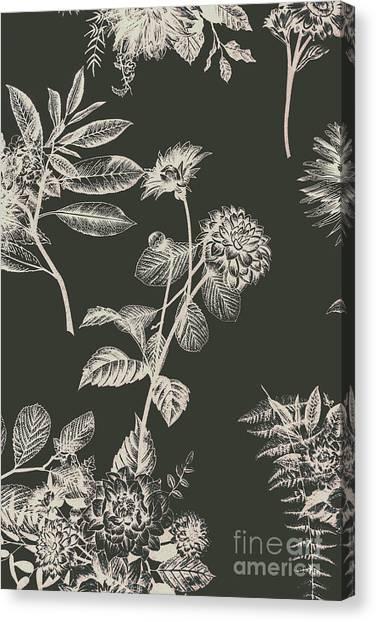 Nature Still Life Canvas Print - Dark Botanics  by Jorgo Photography - Wall Art Gallery