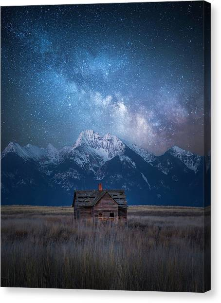 Dark Skies Last Frontier / Mission Mountains, Montana  Canvas Print