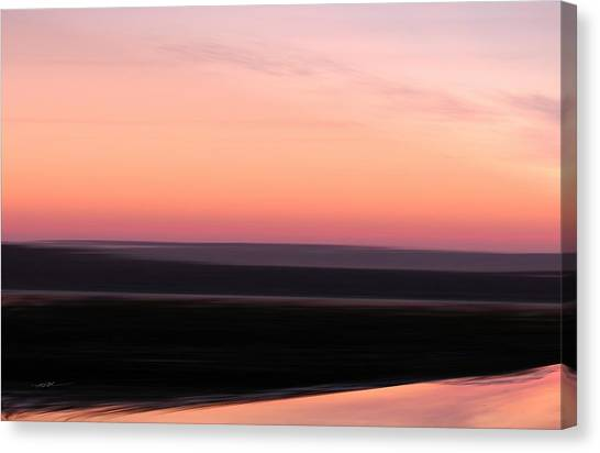 Canvas Print featuring the digital art Darkness Settles Over The Desert by Roy Erickson
