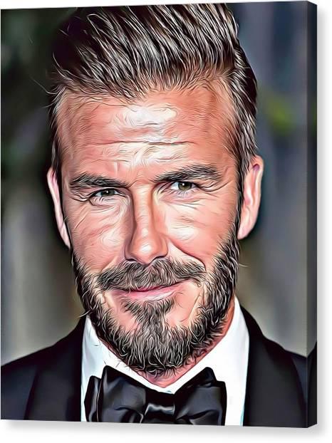 David Beckham Canvas Print - David Beckham by Russ Carts