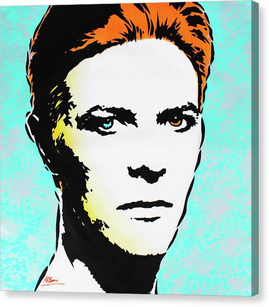 Warhol Canvas Print - David Bowie - The Man Who Fell To Earth by Mr Babes