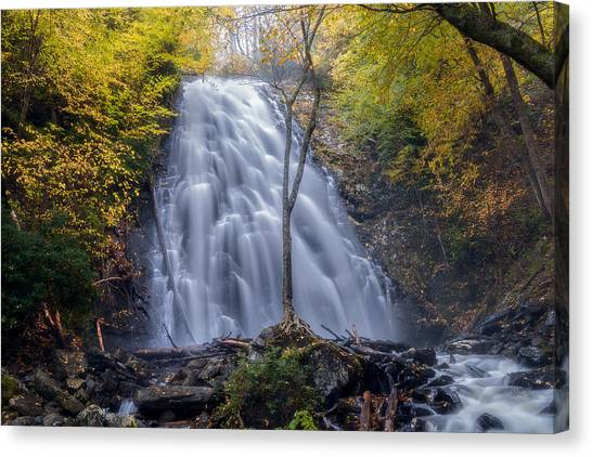 Dawn At Crabtree Falls Canvas Print