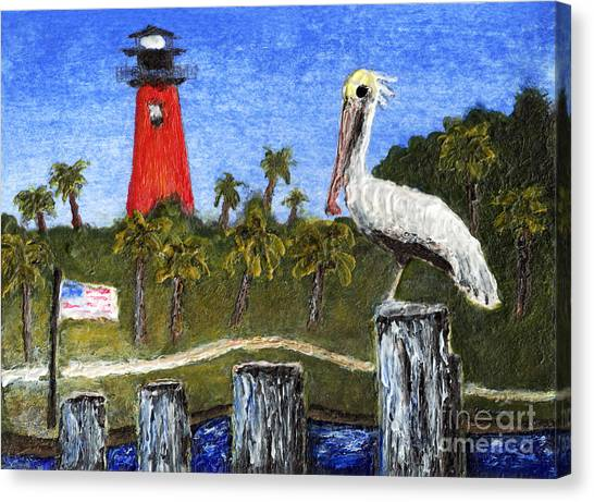 Aceo Dawn At Jupiter Inlet Lighthouse Florida 52a Canvas Print