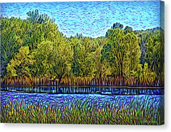 Canvas Print featuring the digital art Day Of Reflections by Joel Bruce Wallach