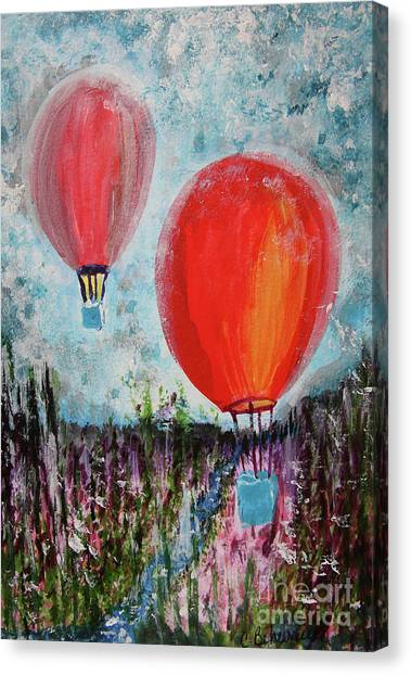 Canvas Print - Daydream Balloon Ride  by Cathy Beharriell
