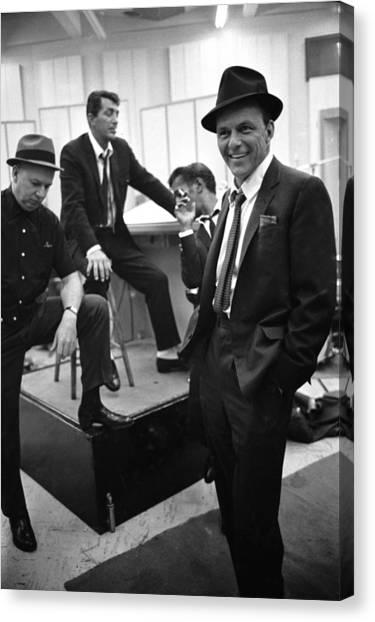 Dean Martinsammy Jr. Davisfrank Sinatra Canvas Print