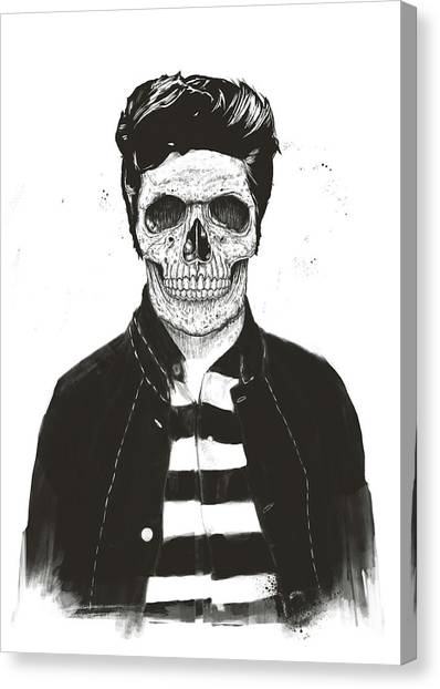 Black And White Canvas Print - Death Fashion by Balazs Solti