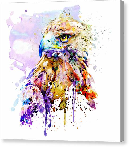 Golden Eagle Canvas Print - Death From Above by Marian Voicu