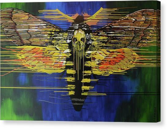 Silence Of The Lambs Canvas Print - Deaths Head Moth by Jiian Chapoteau
