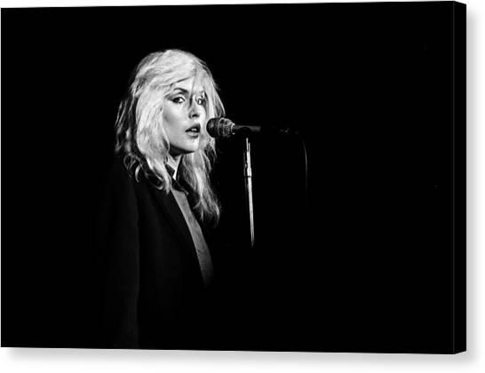 Debbie Harry Performs Live Canvas Print by Richard Mccaffrey