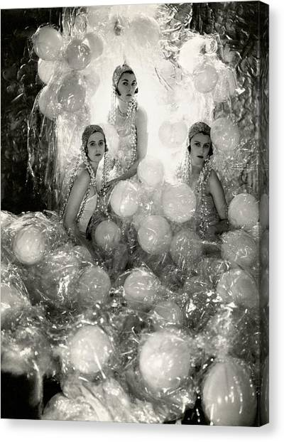 The Debutantes In Costume Canvas Print by Cecil Beaton