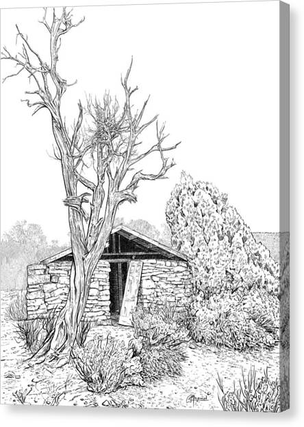 Decay Of Calamity The Half Life Of A Dream Black And White  Canvas Print