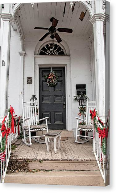 Canvas Print featuring the photograph Deck The Porch by Kristia Adams