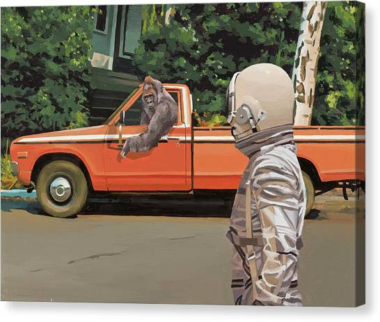 Science Canvas Print - Decline Of The Planet Of The Apes by Scott Listfield