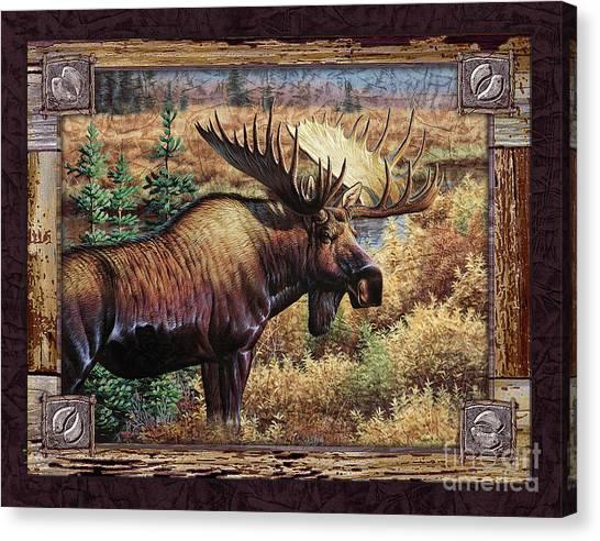 Deco Moose Canvas Print