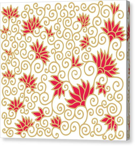 Decorative Floral Composition With Canvas Print by Aniana