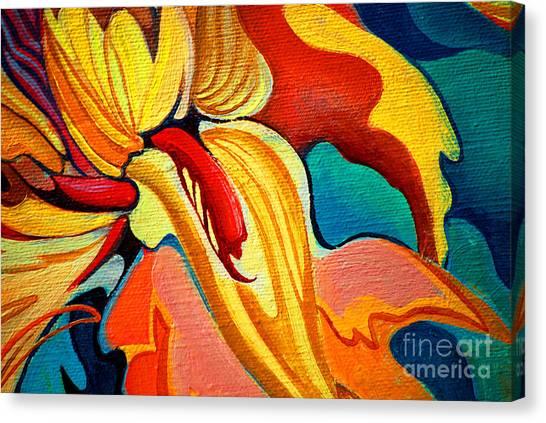 Meditate Canvas Print - Decorative Flower Painting By Oil On by Mikhail Zahranichny