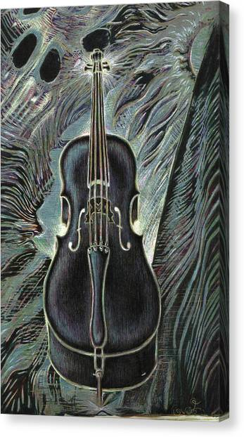 Deep Cello Canvas Print