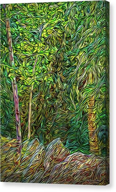 Canvas Print featuring the digital art Deep Forest Portal by Joel Bruce Wallach