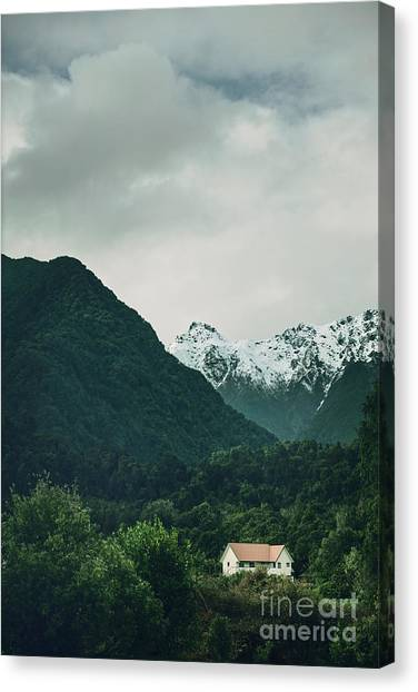 Fox Glacier Canvas Print - Deep In A Dream by Evelina Kremsdorf