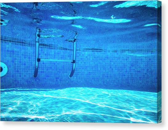 Deep Of Swimming Pool Canvas Print by Cinoby