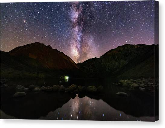 Canvas Print featuring the photograph Deep Sky Fishing by Tassanee Angiolillo