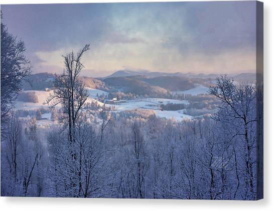 Deer Valley Winter View Canvas Print