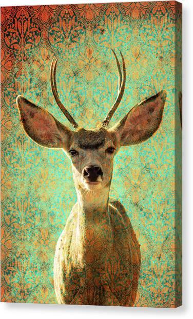 Deers Ears Canvas Print