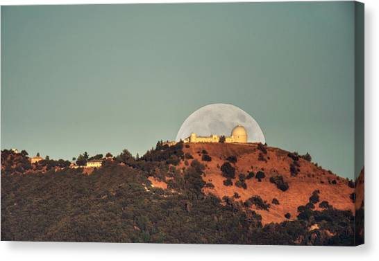 Canvas Print featuring the photograph Deflector Shield Over Lick Observatory by Quality HDR Photography