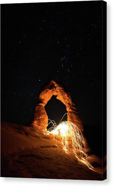 Canvas Print featuring the photograph Delicate Arch Steel Wool by Nathan Bush